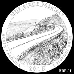 Blue Ridge Parkway Quarter and Coin Design Candidate BRP-01