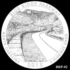 Blue Ridge Parkway Quarter and Coin Design Candidate BRP-02