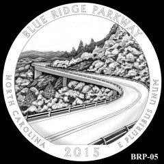 Blue Ridge Parkway Quarter and Coin Design Candidate BRP-05
