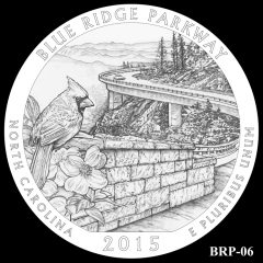 Blue Ridge Parkway Quarter and Coin Design Candidate BRP-06
