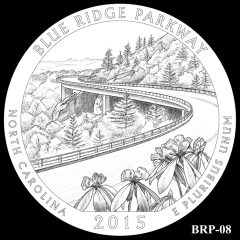 Blue Ridge Parkway Quarter and Coin Design Candidate BRP-08