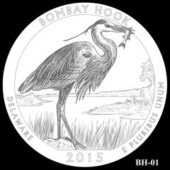 Bombay Hook National Wildlife Refuge Quarter and Coin Design Candidate BH-01