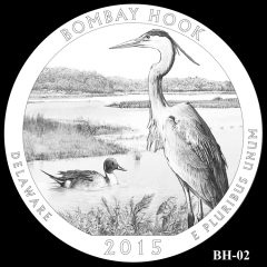 Bombay Hook National Wildlife Refuge Quarter and Coin Design Candidate BH-02