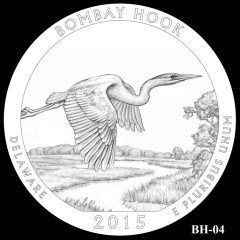 Bombay Hook National Wildlife Refuge Quarter and Coin Design Candidate BH-04