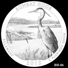 Bombay Hook National Wildlife Refuge Quarter and Coin Design Candidate BH-06