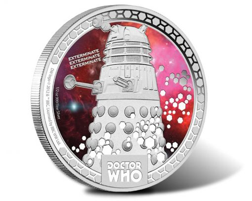 Doctor Who Monsters - Daleks 2014 One-Half Ounce Silver Proof Coin