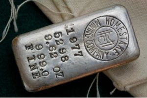 Homestake silver bar