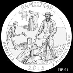 Homestead National Monument of America Quarter and Coin Design Candidate HP-01