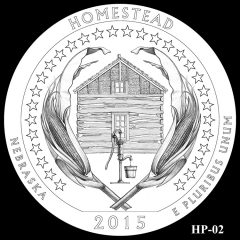 Homestead National Monument of America Quarter and Coin Design Candidate HP-02