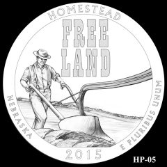 Homestead National Monument of America Quarter and Coin Design Candidate HP-05