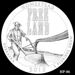 Homestead National Monument of America Quarter and Coin Design Candidate HP-06