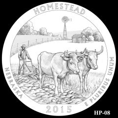 Homestead National Monument of America Quarter and Coin Design Candidate HP-08