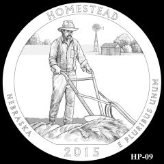 Homestead National Monument of America Quarter and Coin Design Candidate HP-09