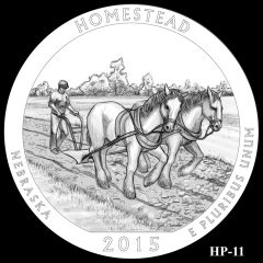 Homestead National Monument of America Quarter and Coin Design Candidate HP-11