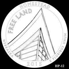 Homestead National Monument of America Quarter and Coin Design Candidate HP-12