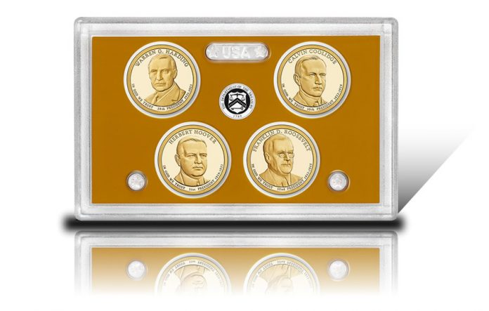 Lens and Dollars in 2014 Presidential $1 Coin Proof Set