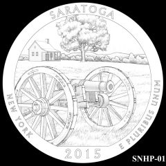 Saratoga National Historical Park Quarter and Coin Design Candidate SNHP-01
