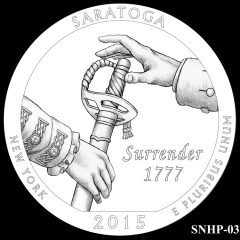 Saratoga National Historical Park Quarter and Coin Design Candidate SNHP-03