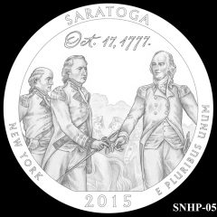 Saratoga National Historical Park Quarter and Coin Design Candidate SNHP-05