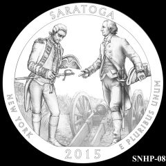 Saratoga National Historical Park Quarter and Coin Design Candidate SNHP-08