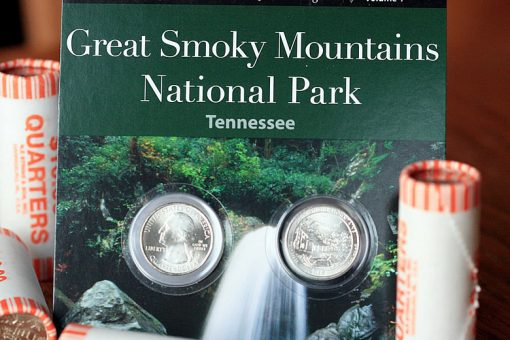 Set and Rolls of Great Smoky Mountains National Park Quarter