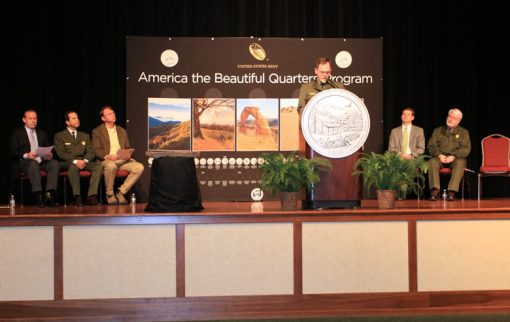 Speakers at Great Smoky Mountains Quarter Ceremony
