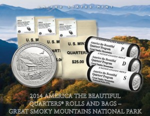 US Mint promotion image for Great Smoky Mountains National Park Quarters