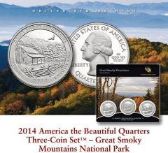 US Mint promotion image for Great Smoky Mountains Quarters Three-Coin Sets
