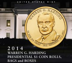 US Mint promotion image for Warren G. Harding Presidential $1 Coin