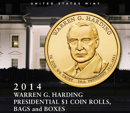Us Mint Sales Harding 1 Coins Debut Coin News