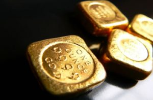 one-ounce gold, sqare bars