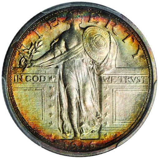 1916 Standing Liberty quarter - obverse