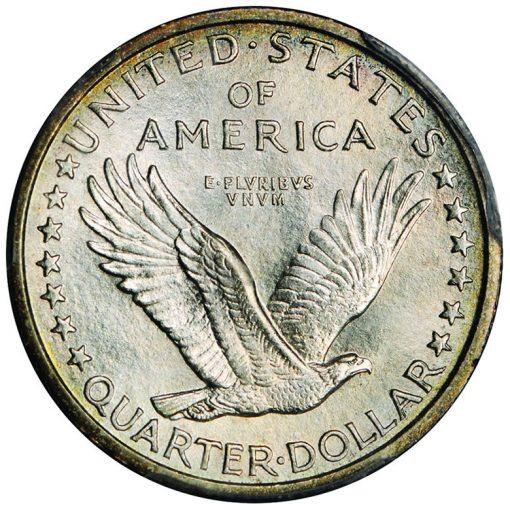 1916 Standing Liberty quarter - reverse