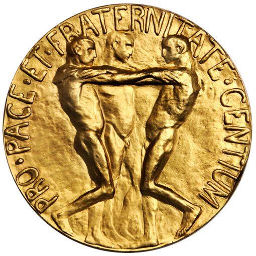 1936 Nobel Peace Prize medal - reverse