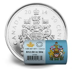 2014 50c Canadian Circulation Rolls in Special Wrap