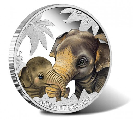 2014 Asian Elephant Silver Proof Coin