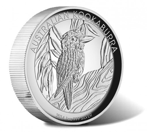 2014 Australian Kookaburra Silver Proof High Relief Coin