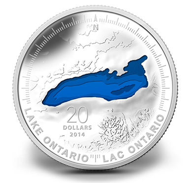 2014 Canadian Lake Ontario Silver Coin