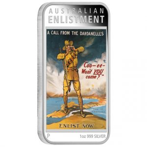 2014 Enlistment 1 oz Silver Proof Rectangle Coin