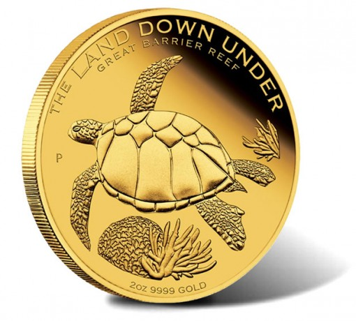 2014 Great Barrier Reef 2 oz Gold Coin