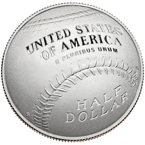 2014 National Baseball Hall of Fame Proof Clad Half-Dollar - Reverse