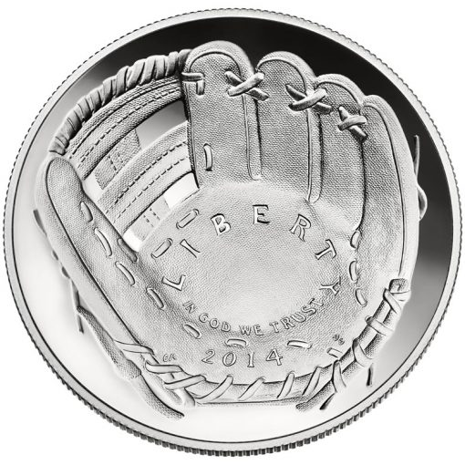 2014 National Baseball Hall of Fame Proof Silver Dollar - Obverse