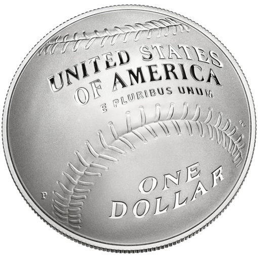 2014 National Baseball Hall of Fame Proof Silver Dollar - Reverse
