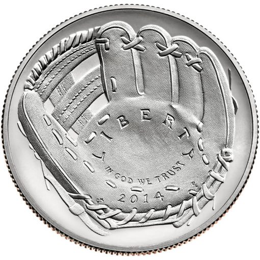 2014 National Baseball Hall of Fame Uncirculated Clad Half-Dollar - Obverse