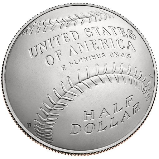2014 National Baseball Hall of Fame Uncirculated Clad Half-Dollar - Reverse