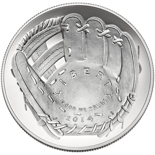 2014 National Baseball Hall of Fame Uncirculated Silver Dollar - Obverse
