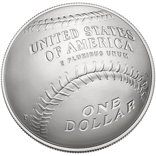 2014 National Baseball Hall of Fame Uncirculated Silver Dollar - Reverse