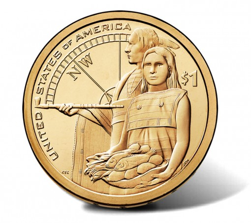 2014 Native American $1 Coin - Reverse