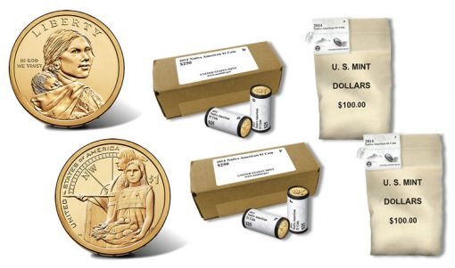 2014 Native American Dollars in Rolls, Bags and Boxes