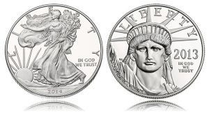 2014 Proof Silver Eagle and 2013 Proof Platinum Eagle